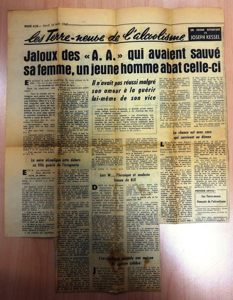 FRANCE-SOIR, 16 Août 1960 : Reportage de Joseph Kessel
