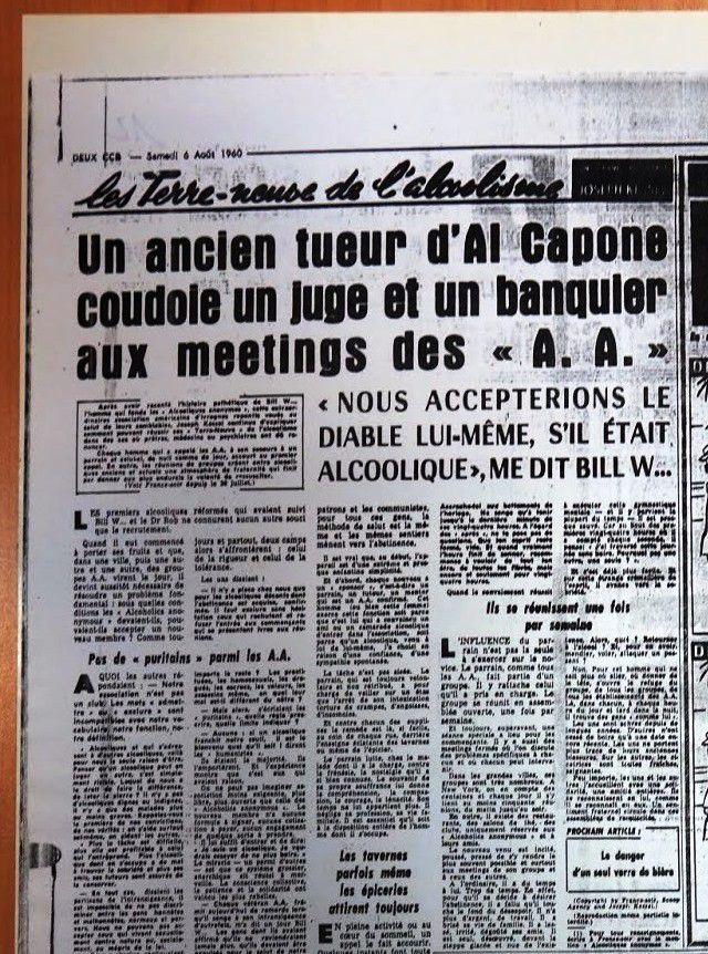 FRANCE-SOIR, 6 Août 1960 : Reportage de Joseph Kessel sur AA
