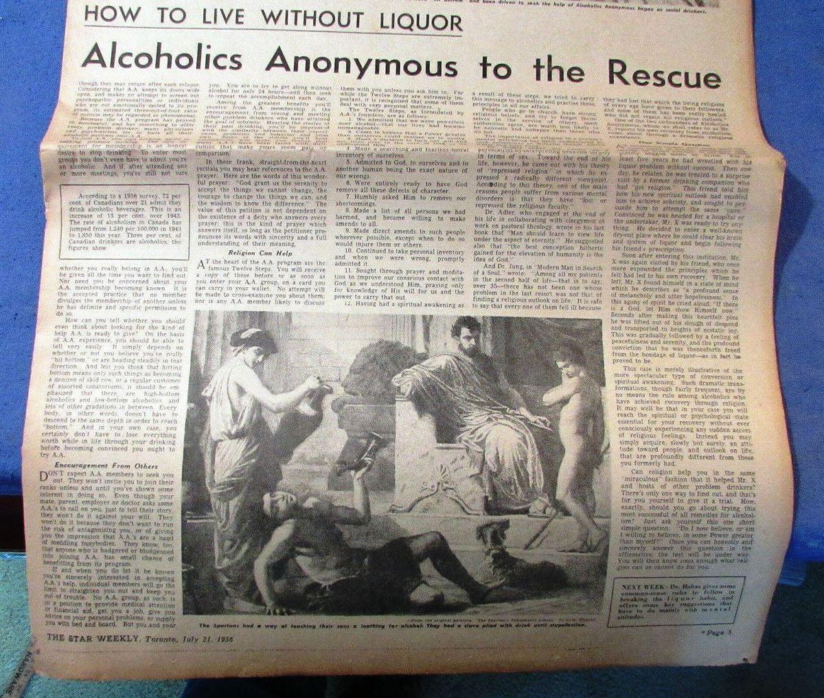 """The Star Weekly"" (Toronto) 21 Juillet 1956"