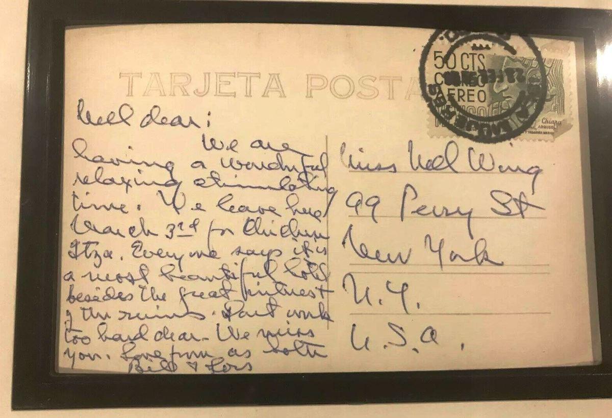 Bill & Loïs envoient une carte postale du Mexique à Nell Wing