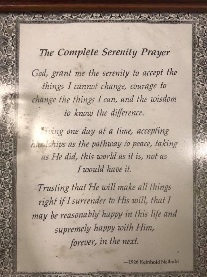 Prière de la Sérénité (complète) de Reinhold Niebuhr