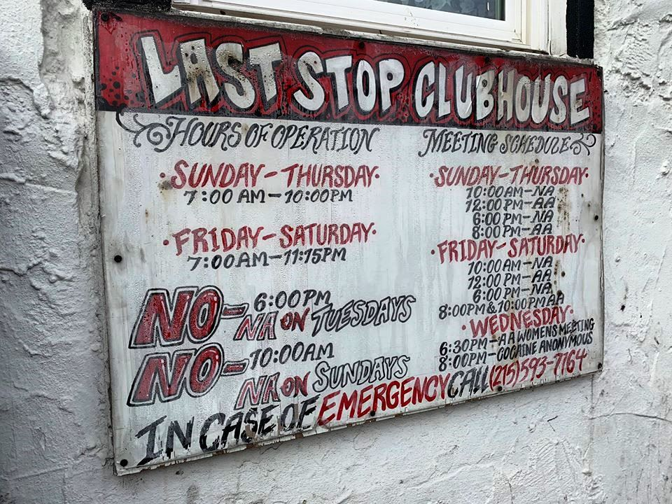 """USA, New Jersey, Camden : """"Last Stop Clubhouse"""""""
