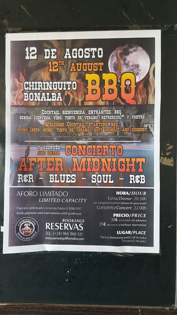 Club Bonalba : Soirée samedi à ne pas manquer