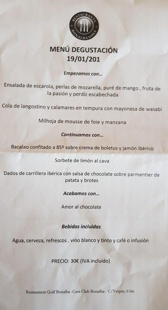 Vendredi 19 janvier : compétition mensuelle à Bonalba avec repas