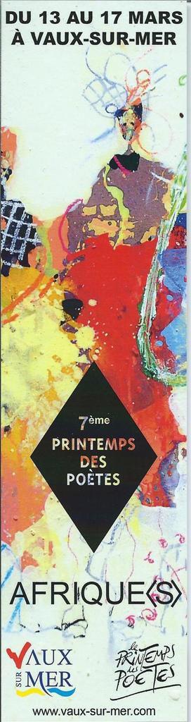 Le printemps des poètes, à Vaux-sur-Mer la semaine prochaine.