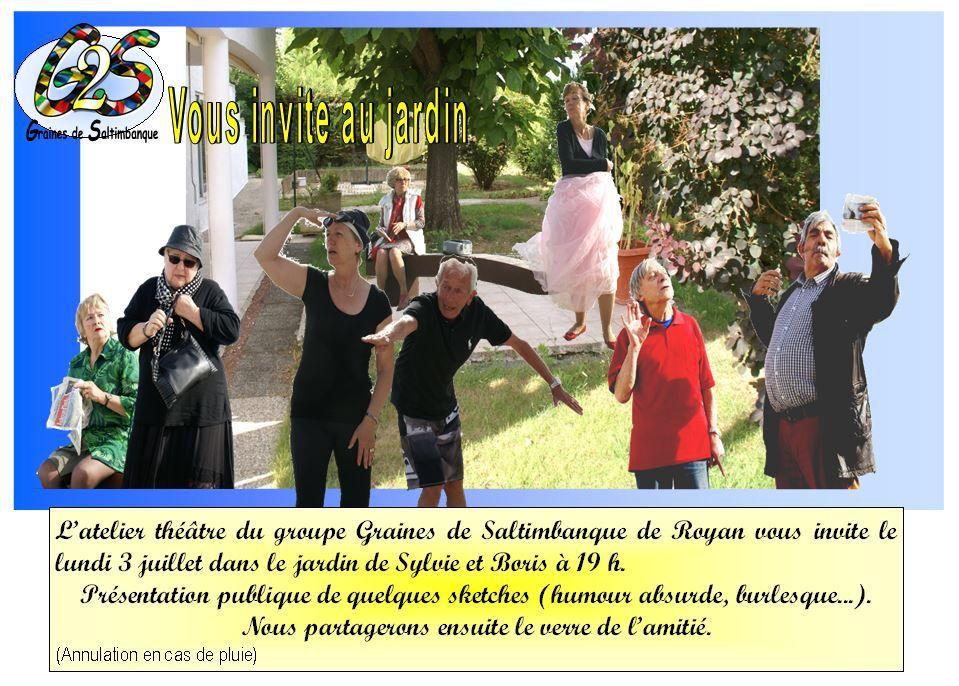 Théâtre au jardin, Vaux-sur-Mer le 3 juillet