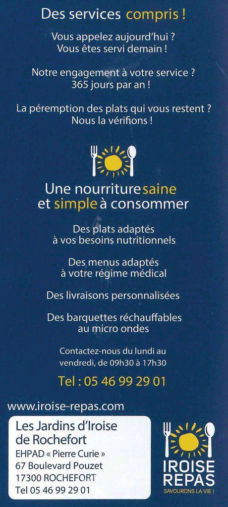 LES JARDINS D'IROISE : Repas et services à domicile dédiés aux séniors.