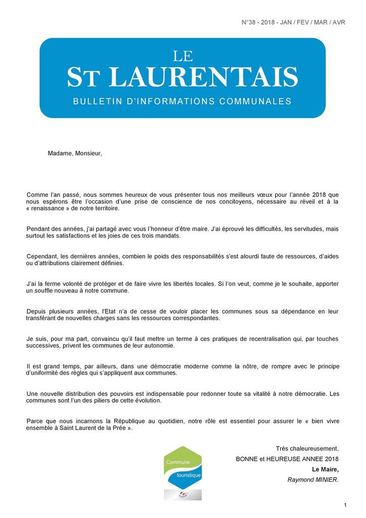 Le St Laurentais N° 38