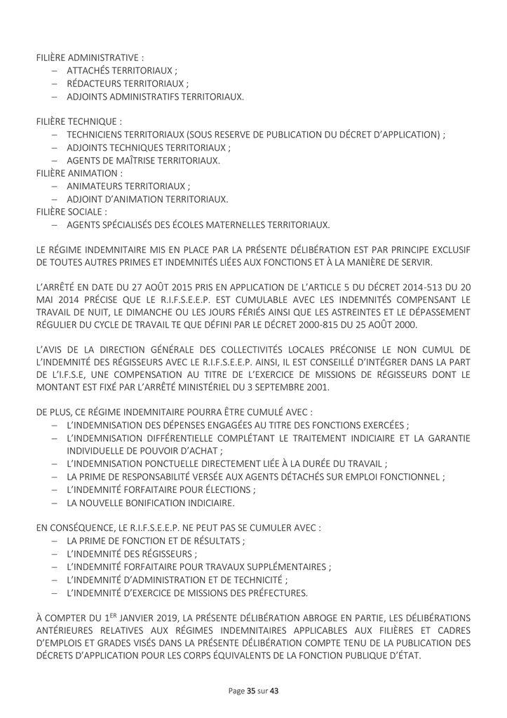 Délibérations du conseil minicipal du 9 novembre 2018