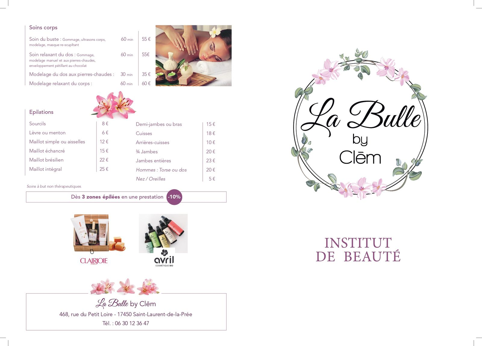 Ouverture institut de beauté traditionnel « La Bulle by Clem »