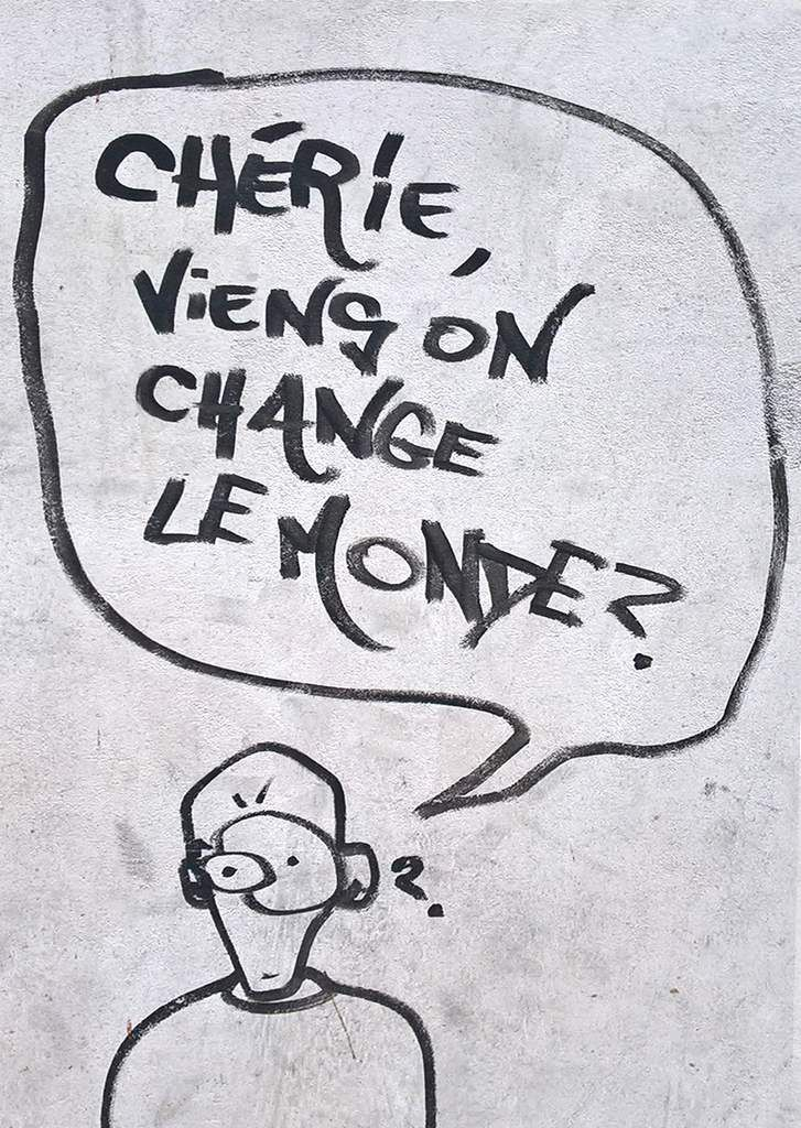 Peinture murale, angle boulevard Vincent Auriol et rue Edmond Flamand, Paris XIIIe