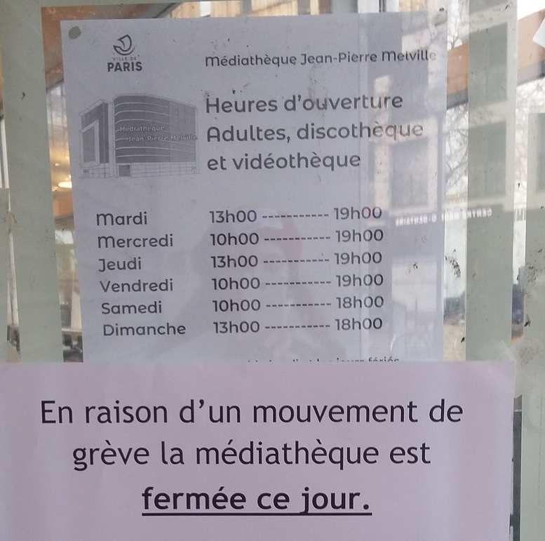 Paris : troisième dimanche de grève chez les bibliothécaires
