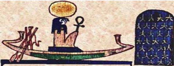 Barque solaire de Rê - (© http://www.wikiwand.com/fr/R%C3%AA)