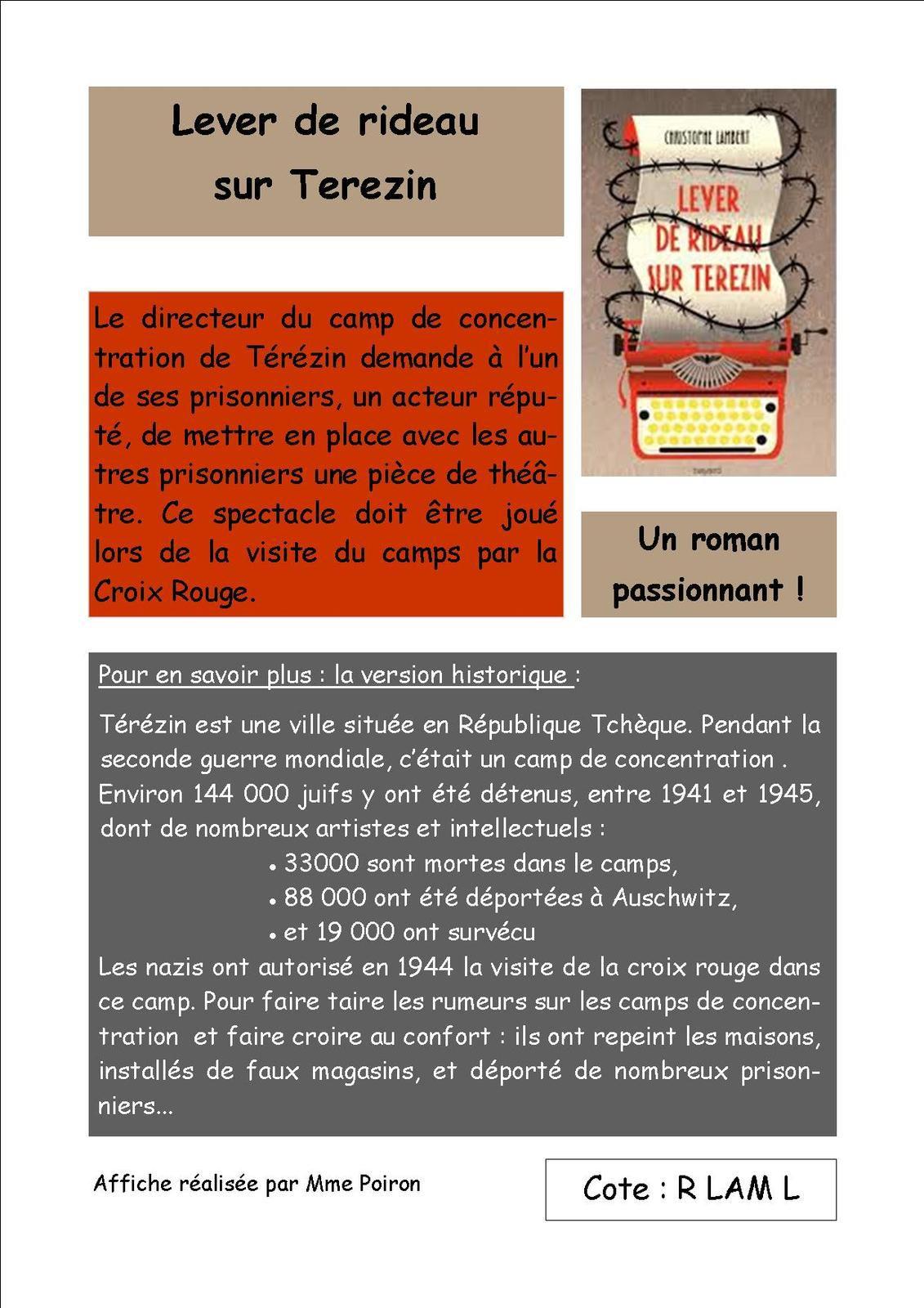 Pour le 10 mars : faire une affiche publicitaire sur un roman