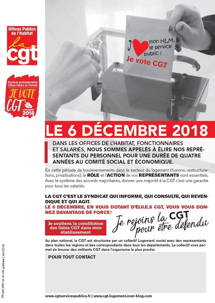 6 Décembre : créons les conditions pour que les salariés des OPH soient défendus : mettons en place des liste CGT dans chaque OPH