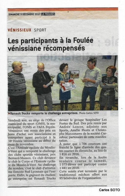 "Article du journal ""Le Progrès"""