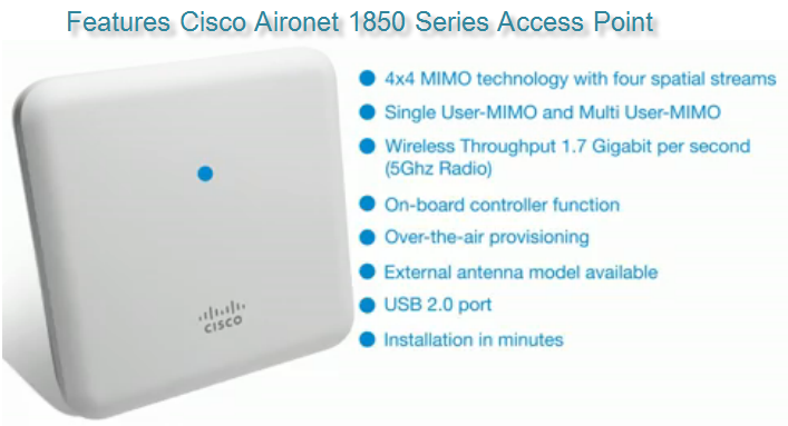 Cisco Aironet 1850 Series Access Points-Gigabit Wi-Fi Has Fully