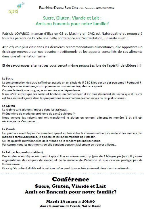 5_Ecole_18/19_mars : Conférence sur l'alimentation