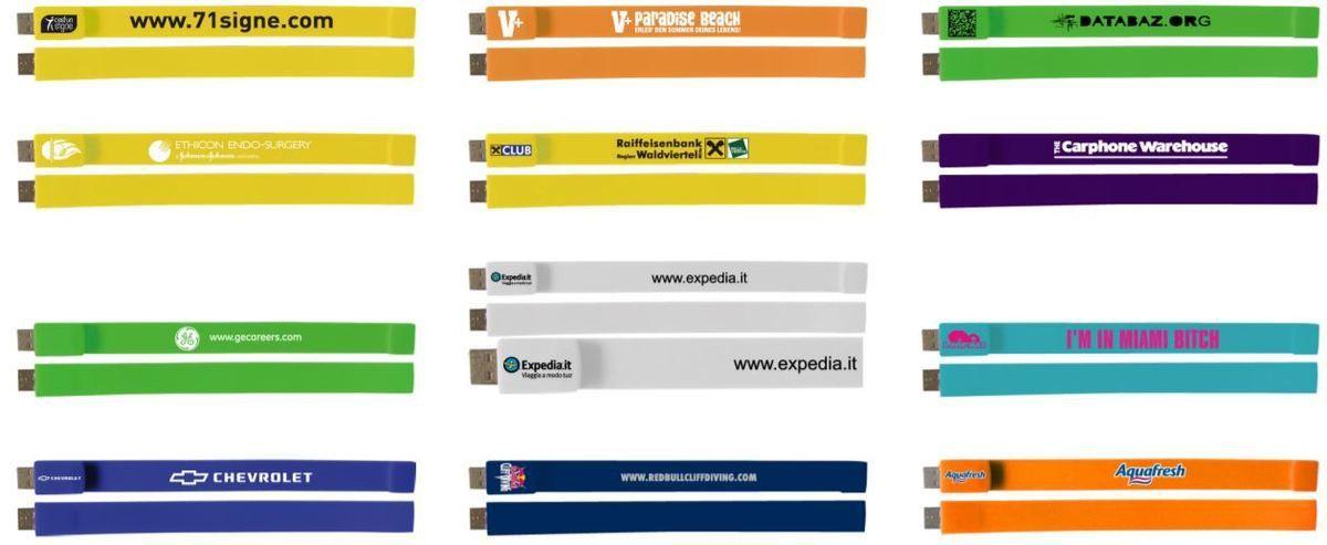 Exemple impression bracelet USB FROSTY