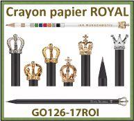 Crayon papier Royal avec couronne en métal