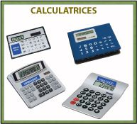 Menu calculatrices publicitaires