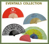 Collection d'éventails publicitaires
