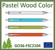 Stylo Pastel wood color bois FSC