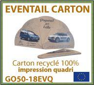 Eventails en carton recyclé de fabrication européenne - GO50-18EVQ