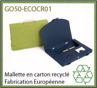 Porte-documents économique en carton recyclé - GO50-ECOCR01 et ECOCR02