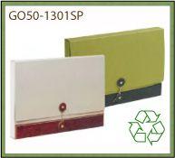 Pochette bi-couleurs en carton 100 pour 100 recyclé de fabrication européenne - GO50-1301SP