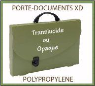 Porte-documents XD en polypropylène recyclable transparent ou opaque deux tailles - GO50-11013