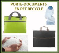 Menu porte-documents en pet recyclé