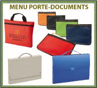 Menu porte-documents publicitaires