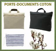 Menu porte-documents en coton