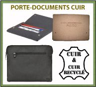 Menu porte-documents en cuir