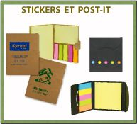 Menu post-it et bloc-notes publicitaires