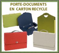 Menu porte-documents en carton recyclé