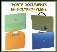 Menu porte-documents en polypropylène
