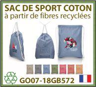 2018 Nouveautés - Sacs de sports à cordelettes de fabrication Française