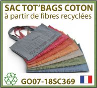 Sacs shopping en coton recycle - GO07-18SC369
