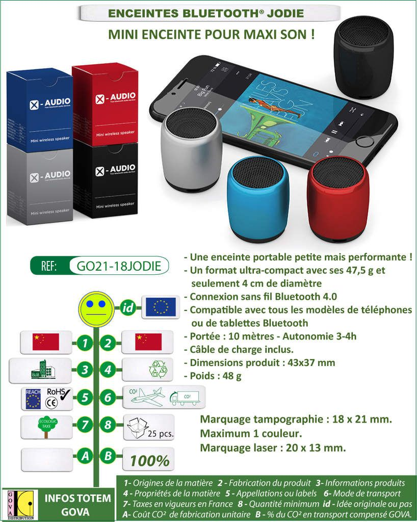 Enceinte bluetooth COLOR - GO21-18COLOR