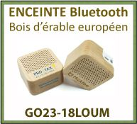 Enceinte bluetooth en bois d'érable