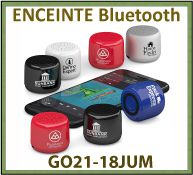 Enceintes stéréo bluetooth JUM très compacte et gros son