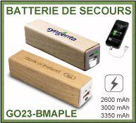 Batterie de secours en bois d'érable