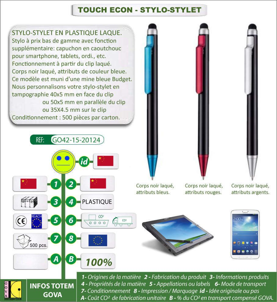 Stylet / stylo TOUCH ECON
