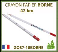 Crayon papier publicitaire BORNE de la collection 42 km d'écriture