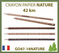 Crayon papier publicitaire NATURE de la collection 42 km d'écriture