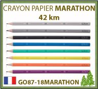 Crayon papier publicitaire MARATHON de la collection 42 km d'écriture
