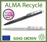 stylo bille fabrique a partir de abs recycle