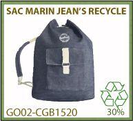 sac marin publicitaire en toile de jean's recyclé 400 gr - GO02-CGB1520